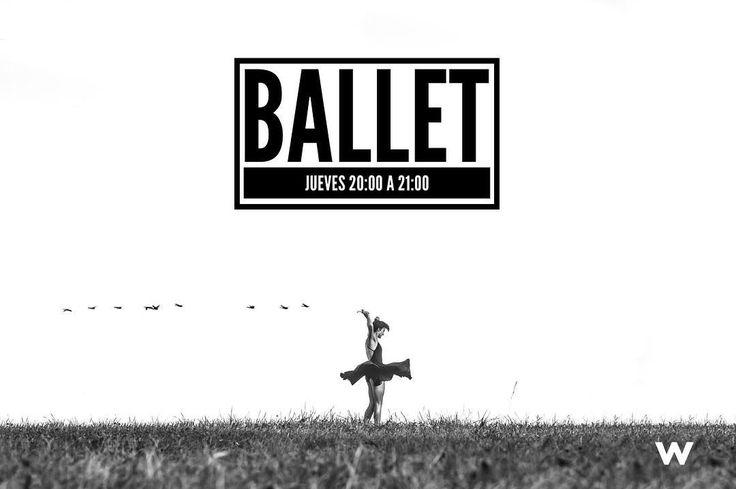 Vuelven las clases de BALLET con nuevo horario! Jueves de 20:00 a 21:00h por sólo 30/mes.