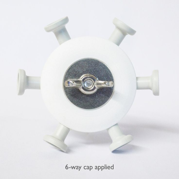 Pack of 3d printed caps which correctly align hubs and increaseload bearing capacity.  When are caps a good idea? Domes in public spaces- You never know what