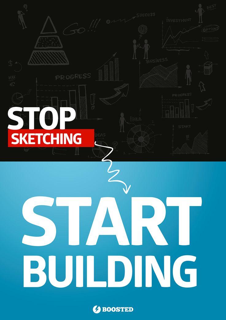 Motivační plakát Budování (Anglicky)
