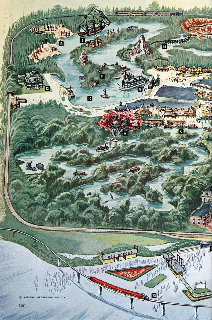 Panel 1 from a Disneyland map from