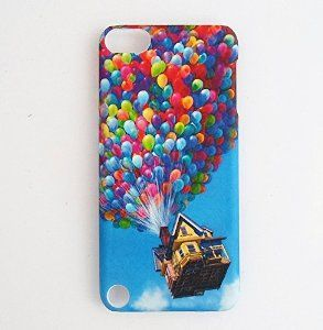 Rainbow Bubbles UP flying house ipod case