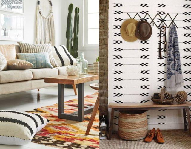 la d co boho une tendance deux styles lieux design et blog. Black Bedroom Furniture Sets. Home Design Ideas