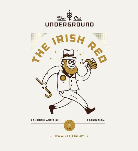 Underground Beer Club Label #beer #label #poster in Illustration
