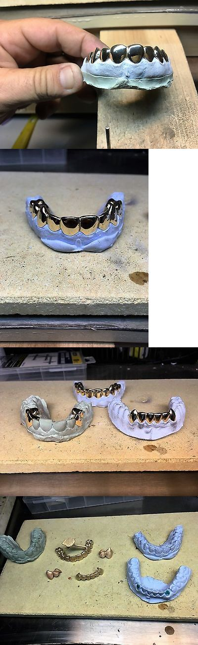 Grillz Dental Grills 152808: 18 Kt 8 Pcs Top Custom Grillz BUY IT NOW ONLY: $430.0
