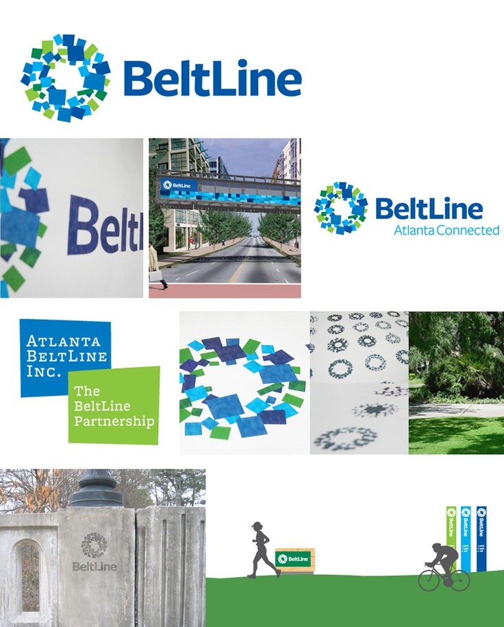 We're proud to have worked with The BeltLine Partnership and Atlanta BeltLine, Inc. to develop the identity for the city's, and the nation's largest ever urban redevelopment and transit project. When complete, the BeltLine's 22 mile transit loop and hundreds of acres of parks and trails will touch 45 intown neighborhoods. The identity system captures this sense of connection, anchored by a vivid mark that is as beautiful as it is functional for signage and wayfinding throughout the city.