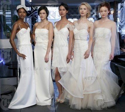 Gorgeous Bridal Collection by Kelima K. Spring 2014. #strapless #chiffon #short #ballgown #highlo #frilled #tulle #silk #satin #wedding