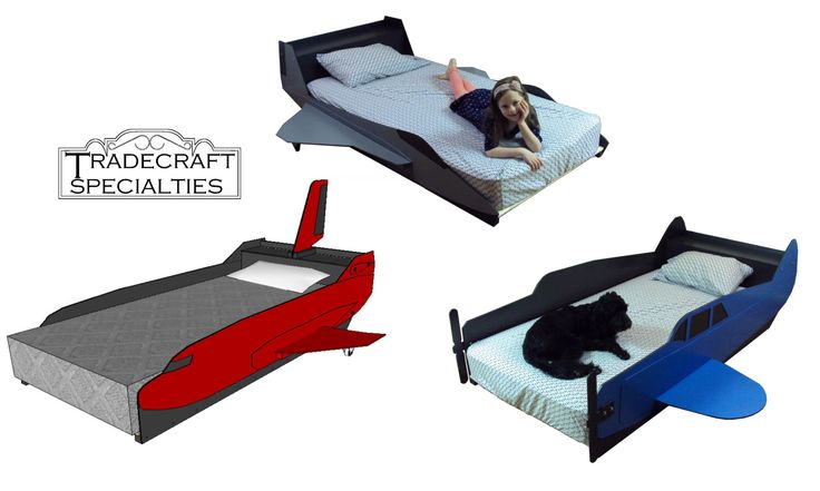 Best 25 kids bed frames ideas on pinterest kids twin for Airplane bed frame