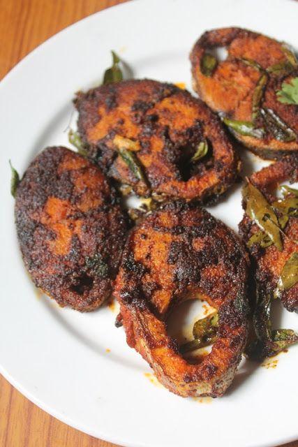 Yummy tummy seer fish fry recipe fried king fish recipe for King fish recipe
