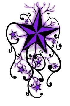 #purple #star #tattoo