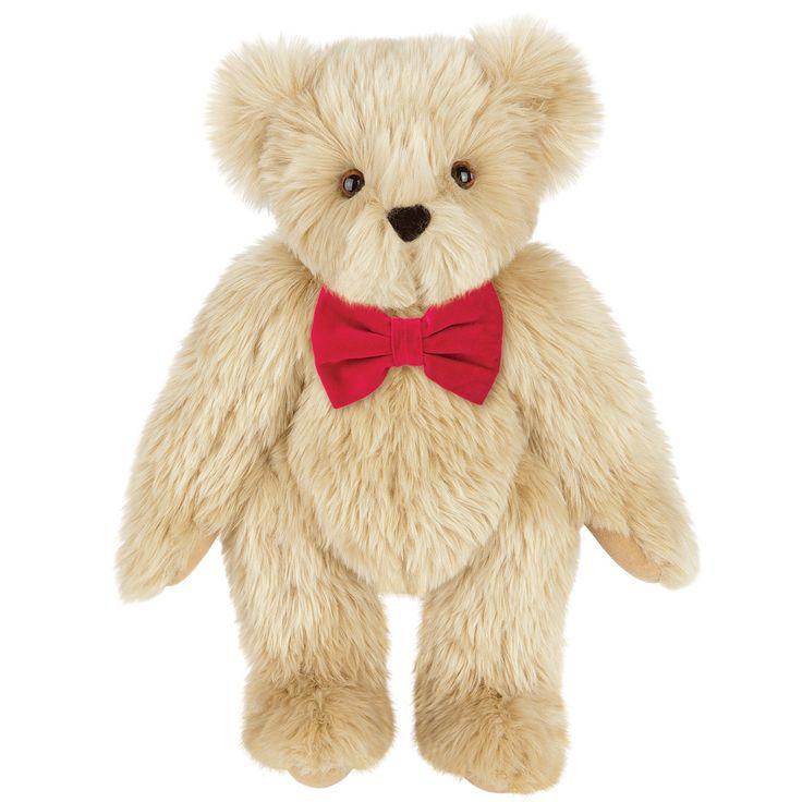 "**Lifetime guaruntee, gets sent to the ""BEAR HOSPITAL** 15"" Classic Bow Tie Bear | Vermont Teddy Bear Company"