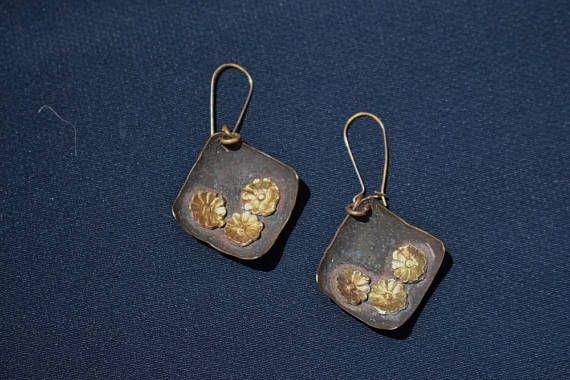 Summer Earrings Handmade Copper Earrings Gift For Her Any