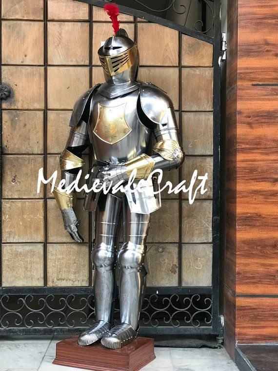 MedievaleCraft Italian Full Suit of Armour with Etching