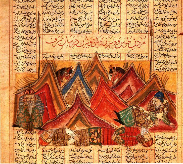 The Four Faithful Followers of Kai–Khusraw Shah-nama (Firdawsi's 'Book of Kings'). Shiraz, 1330. Hazine 1479, folio 126a