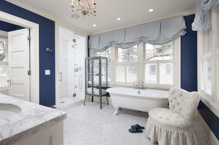 Royal Georgian Bathroom Gem tones add a luxurious look to a more classic bathroom style.