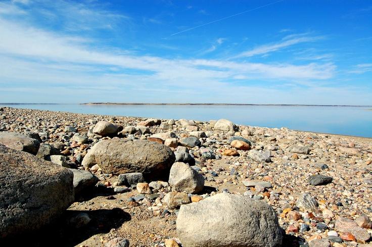 Lake Diefenbaker, Saskatchewan. Beautiful big lake!