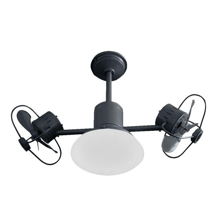Ventilador de teto bivolt Infinit Plus preto com lâmpada led e controle remoto