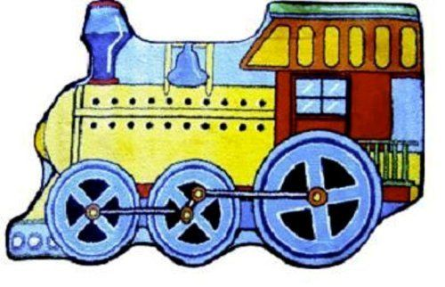 """LA Rug Train Rug 31""""x47"""" by LA Rug. $32.00. 100% Nylon. Good Quality. Fire Retardant. Easy To Clean. 31""""x47"""" Made out of 100% Nylon with Latex backing"""