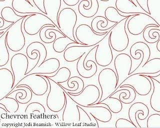 Chevron Feathers--Jodi Beamish #longarm #quilting