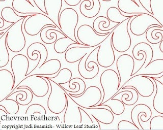 Chevron Feathers--Jodi Beamish #longarm #quilting