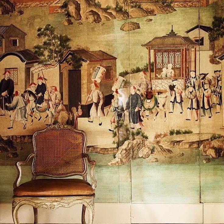 #hubertdegivenchy #chinoiserie dining room at #lejonchet