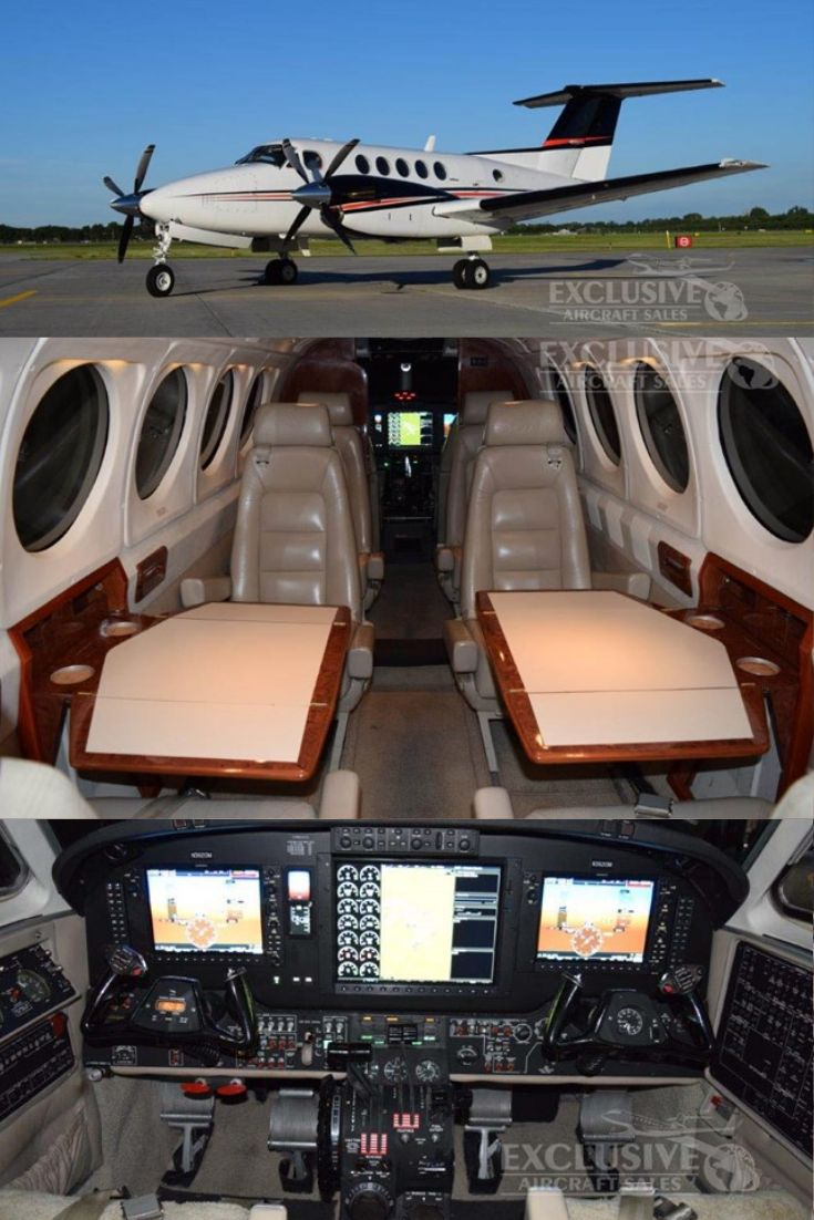 1991 King Air B200 For Sale! Propeller plane, Airplane