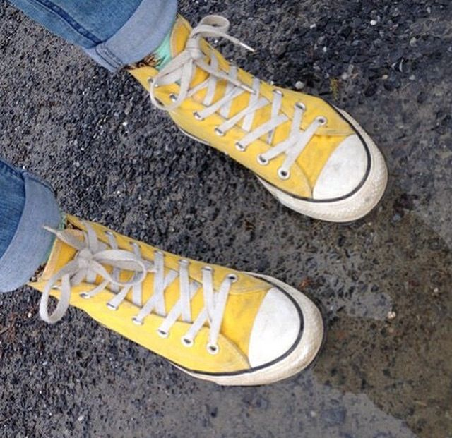 yellow high twenty one pilots converse ~ vincent van gogh sunflower socks