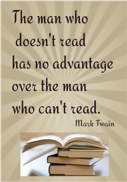 Mark twain on reading classic quotes sayings pinterest - Reading quotes pinterest ...
