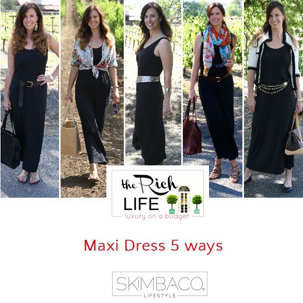 One Maxi dress, five different ways