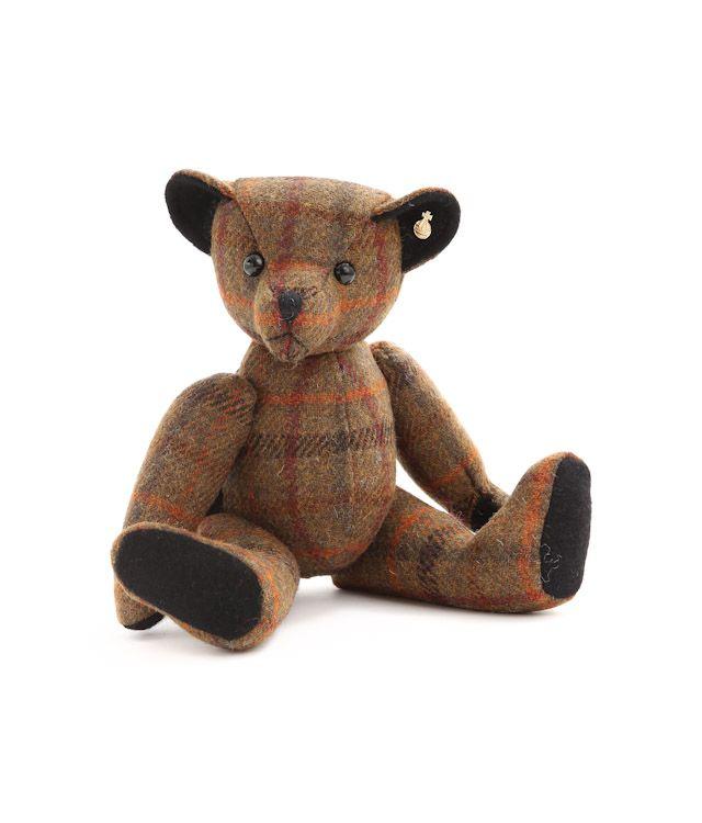 テディベアピータージェイムスハリスツイードダブルネームぬいぐるみクリスマス プレゼントインテリア35cm(35センチ)。【送料無料】【PETER JAMES】(ピータージェイムス)【HARRIS TWEED】(ハリスツイード)TEDDY BEARツイード素材クマ / ぬいぐるみテディベアHEATH(ヒース)
