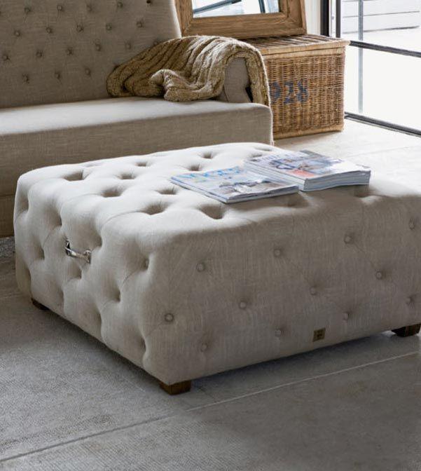 Soho loft Footstool 90x90 | Riviera Maison - De Woonstee Tiel
