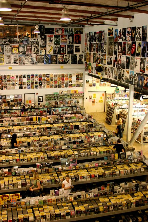 Amoeba Records Hollywood. God, I miss these places! A real record store.