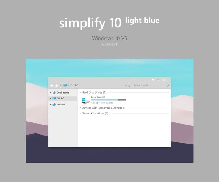 Simplify 10 Light Blue - Windows 10 Theme by dpcdpc11
