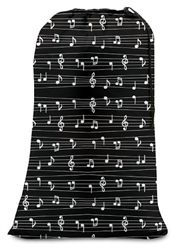 Musical Notes Dorm Laundry bag - College Girl Dorm Room Necessity Residence Hall Supply