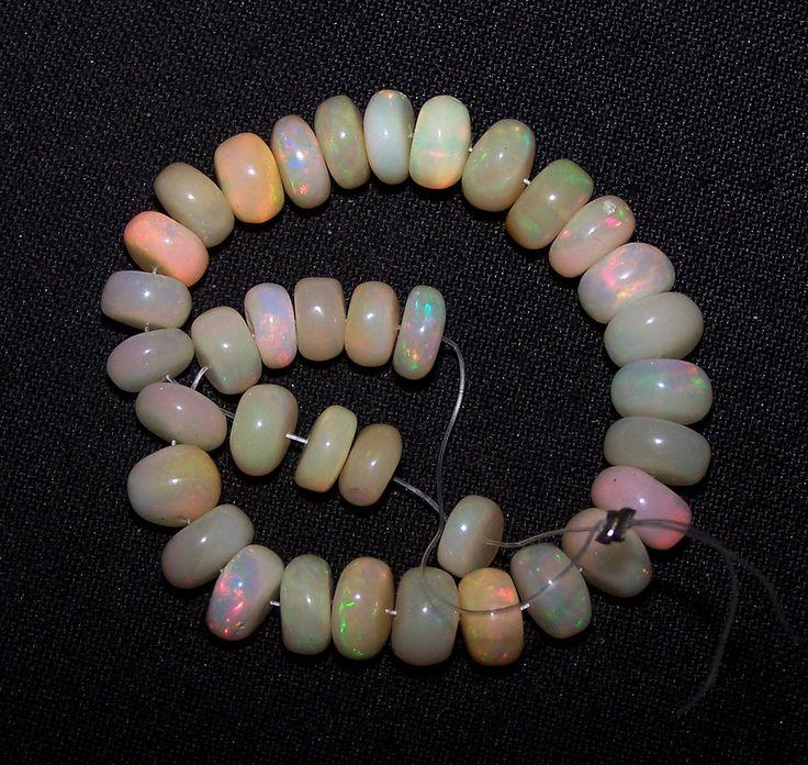 41.10 Cts Insane Multi Rainbow Fire Ethiopian Opal Beads(31 Pcs) 6.5-8 MM AAA NR
