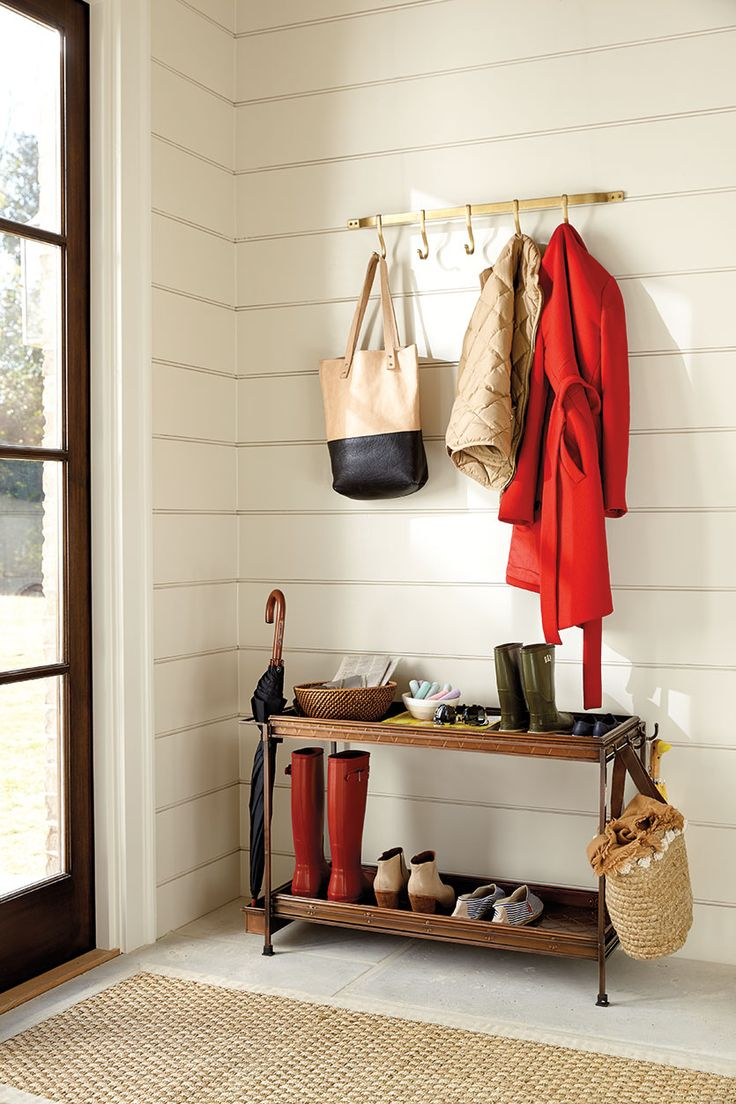 202 best entryway images on pinterest entryway ballard designs nest and organized back door or mudroom with hooks and a double boot tray