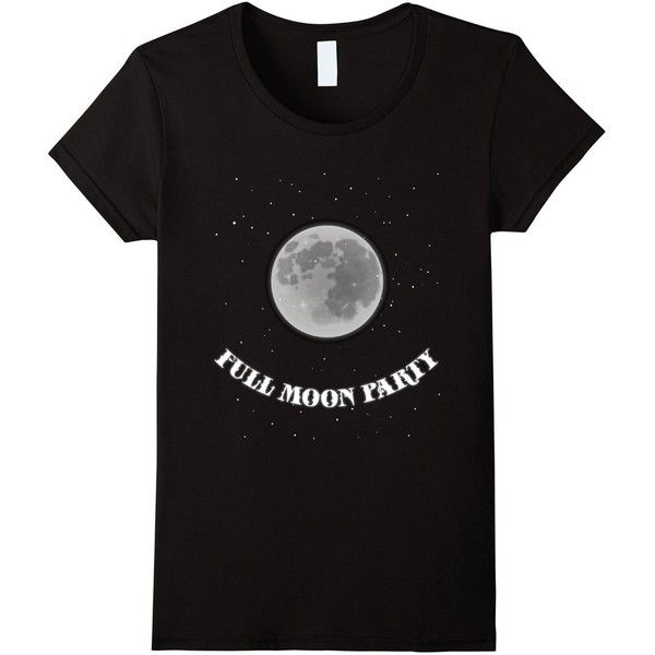 Full Moon Party Astronomy T-Shirt (26 CAD) ❤ liked on Polyvore featuring tops, t-shirts, women, going out tops, night out tops, party tops, party t shirts and holiday party tops