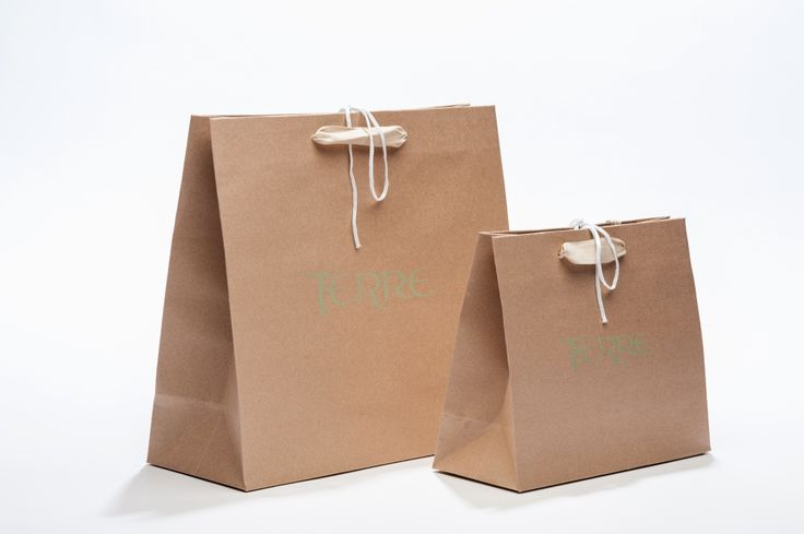 Shopper Kraft Paper, shiny logo and details - TERRE