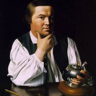Paul Revere.      NAME: Paul Revere      OCCUPATION: Folk Hero      BIRTH DATE: January 01, 1735      DEATH DATE: May 10, 1818      PLACE OF BIRTH: Boston, Massachusetts  Born January 1, 1735, Paul Revere was a silversmith and ardent colonialist. He took part in the Boston Tea Party and was principal rider for Boston's Committee of Safety. In that role, he devised a system of lanterns to warn the minutemen of a British inv    © 2012 A+E Networks. All rights reserved.