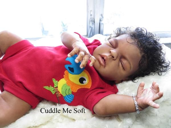 AA / Ethnic Reborn Baby Boy For Sale Sheila Micheal Kit