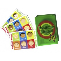 Help increase and reinforce children's feelings vocabulary by playing Feelings Bingo, each set contains 32 cards.