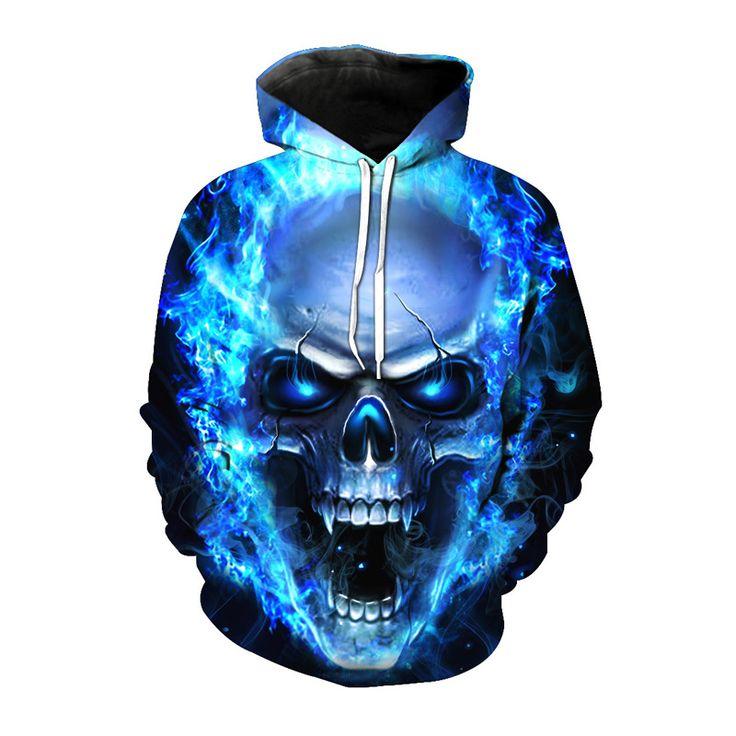 Devil Skull 3D Printed Hoodie //Price: $37.99 & FREE Shipping //     #3dfashion