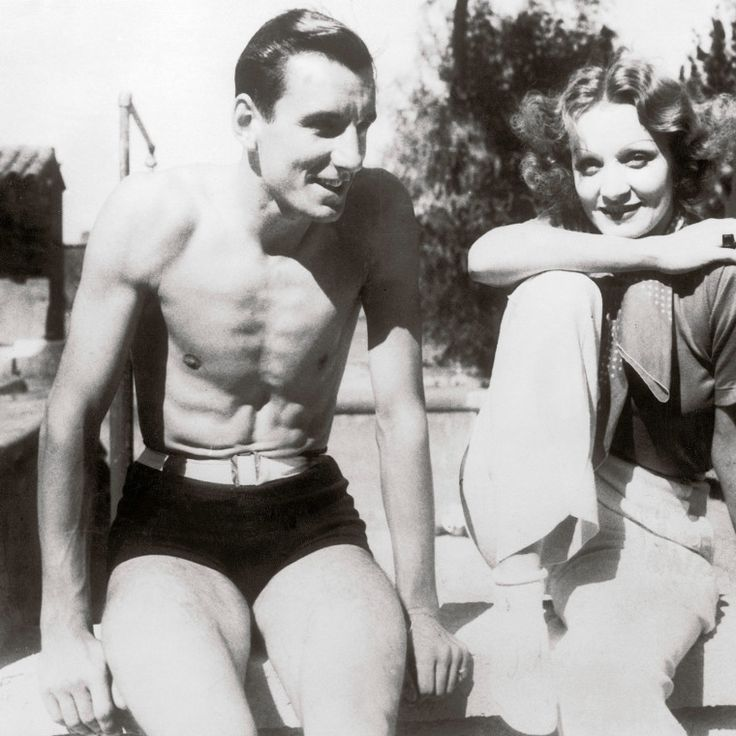 Marlene Dietrich and tennis star Fred Perry, 