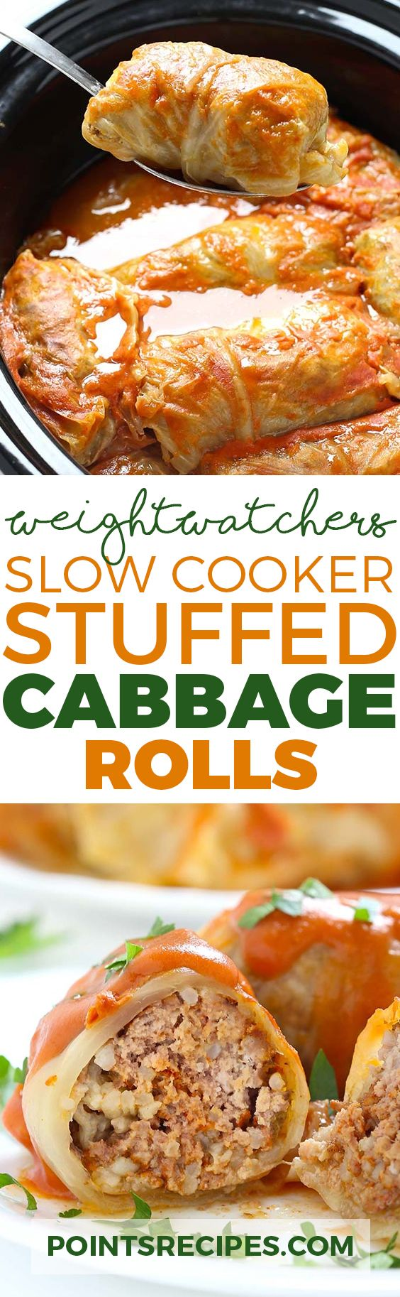 Slow Cooker Stuffed Cabbage Rolls (Weight Watchers SmartPoints)