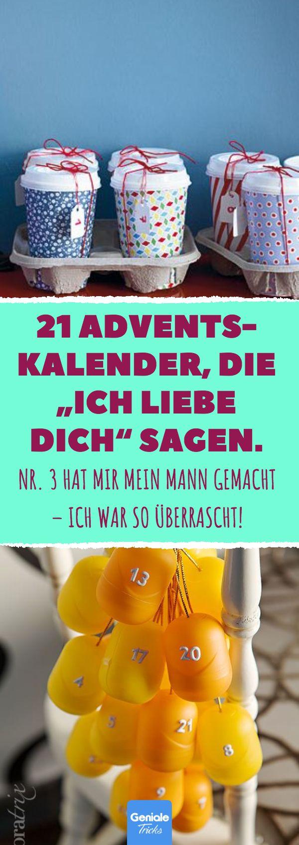 """21 Adventskalender, die """"Ich liebe dich"""" sagen. Geschenkideen für den Freun…"""