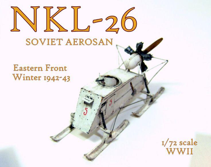 Gulumik Military Models: NKL-26 Aerosan 1/72 ExtraTech - Gallery