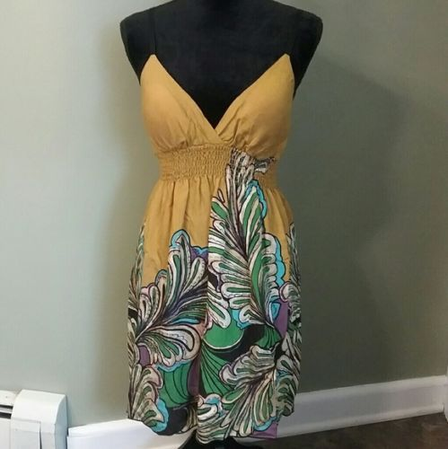 Women-039-s-A-039-Gaci-Mustard-Colored-Dress-Size-Medium