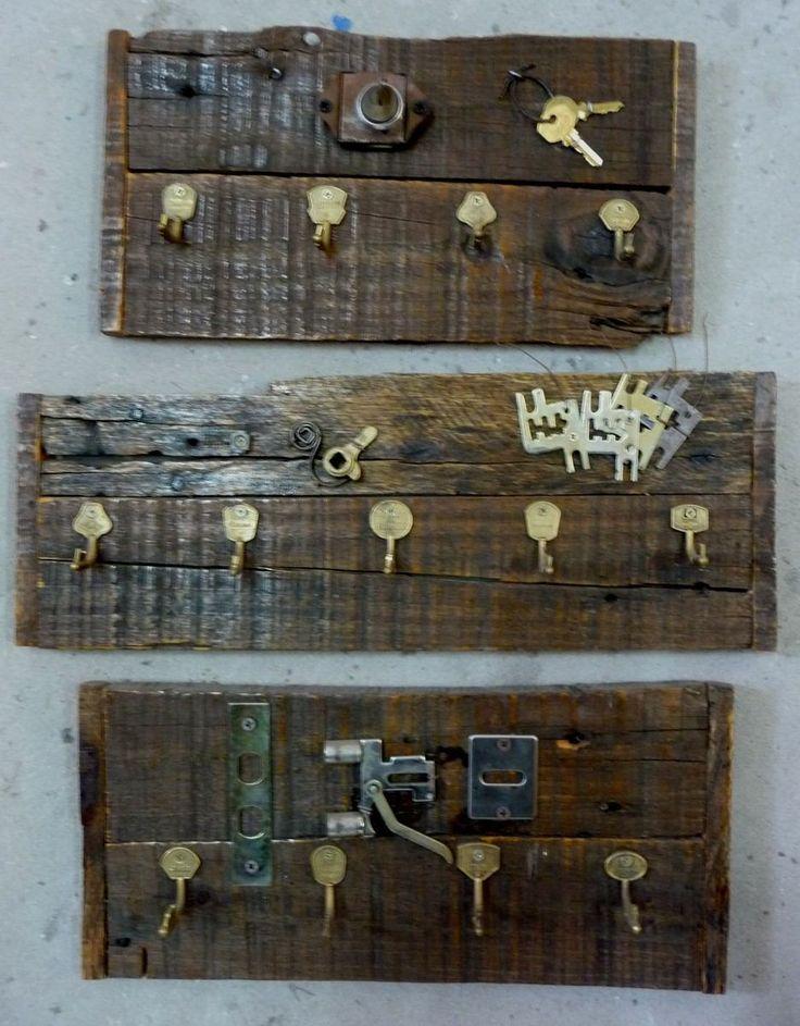 Porta llaves porta llavero r stico para colgar - Porta llaves pared ...