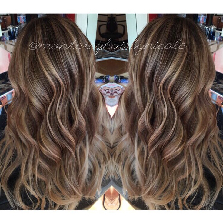 A Natural Balayage Hair Painting Highlight For This