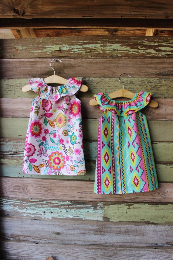 Navajo Floral Ruffle Neck Beach Dress baby by plainjanesstore, $15.00 www.plainjanesstore.com
