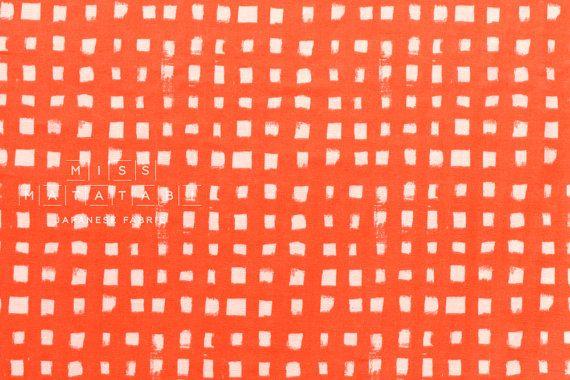 Rosso arancio del giapponese tessuto percalle di MissMatatabi